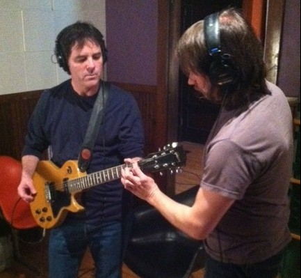 Yours truly with his trusty Les Paul at Goon Lagoon studios
